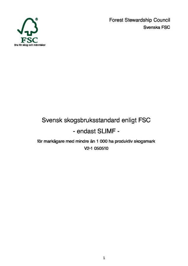 test1Svensk PEFC Skogsstandard
