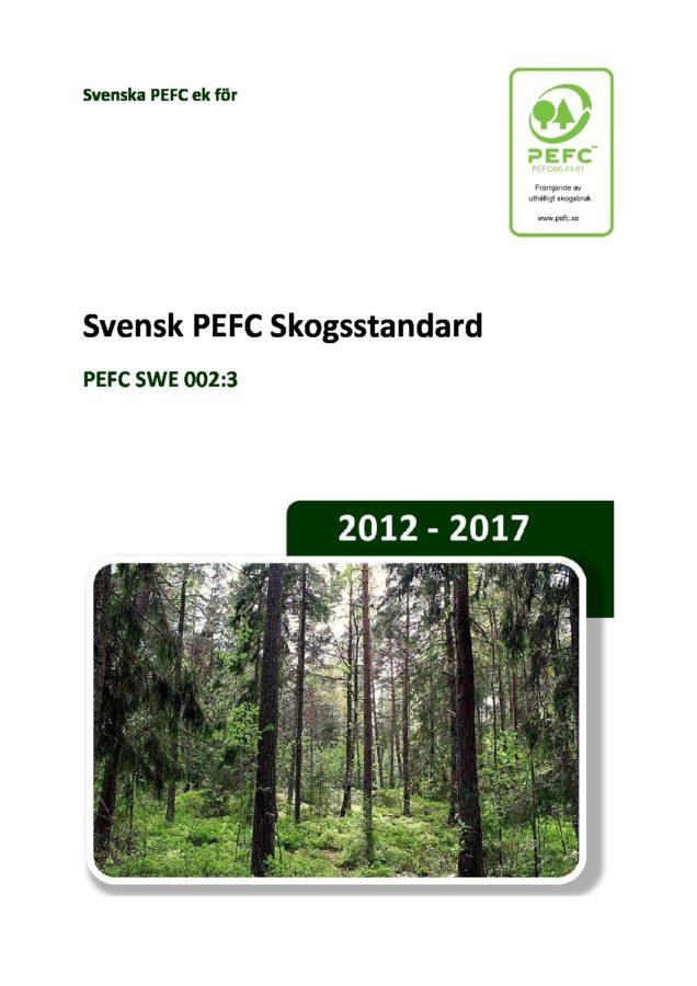 Svensk skogsbruksstandard enligt FSC
