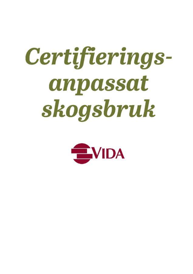 Certifieringsanpassat skogsbruk