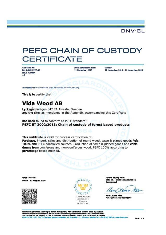Certifikat 2013-SKM-PEFC-62