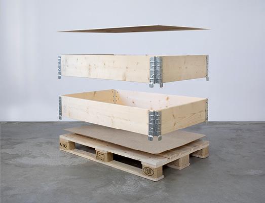 Vårt standardsortiment av träemballage