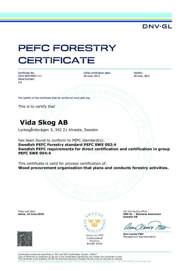 test1Certificate 2015-SKM-PEFC-111